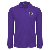 Fleece Full Zip Purple Jacket-Hawk Head