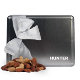 Deluxe Nut Medley Silver Large Tin-Hunter Engraved