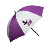 64 Inch Purple/White Umbrella-Hunter College