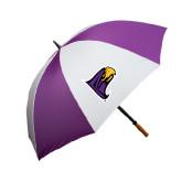 64 Inch Purple/White Umbrella-Hawk Head