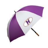 64 Inch Purple/White Umbrella-H Mark