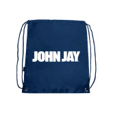 Navy Drawstring Backpack-John Jay