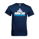 Navy T Shirt-John Jay Bloodhounds