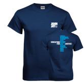 Navy T Shirt-Official Logo