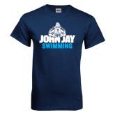 Navy T Shirt-Swimming