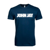Next Level SoftStyle Navy T Shirt-John Jay