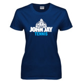 Ladies Navy T Shirt-Tennis