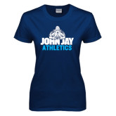 Ladies Navy T Shirt-Athletics