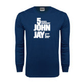 Navy Long Sleeve T Shirt-50th Anniversary
