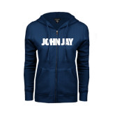ENZA Ladies Navy Fleece Full Zip Hoodie-John Jay