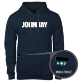 Contemporary Sofspun Navy Heather Hoodie-John Jay