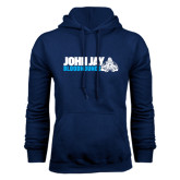Navy Fleece Hood-John Jay Bloodhounds w Hound Flat