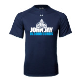 Under Armour Navy Tech Tee-John Jay Bloodhounds