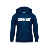 Youth Navy Fleece Hoodie-John Jay