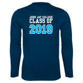 Performance Navy Longsleeve Shirt-Class of 2016
