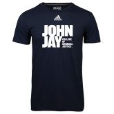 Adidas Climalite Navy Ultimate Performance Tee-Official Logo