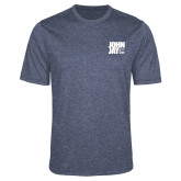 Performance Navy Heather Contender Tee-Official Logo