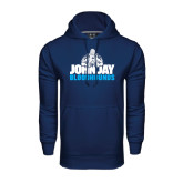 Under Armour Navy Performance Sweats Team Hood-John Jay Bloodhounds