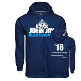 Under Armour Navy Performance Sweats Team Hoodie-John Jay Bloodhounds, Designed by Jessica Ng 18