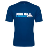 Performance Navy Tee-John Jay Bloodhounds w Hound Flat