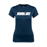 Ladies Syntrel Performance Navy Tee-John Jay