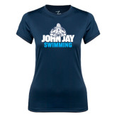 Ladies Syntrel Performance Navy Tee-Swimming