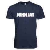 Next Level Vintage Navy Tri Blend Crew-John Jay