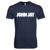 Next Level Vintage Navy Tri Blend Crew-John Jay