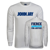 White Long Sleeve T Shirt-John Jay