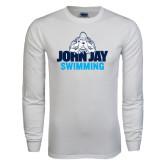 White Long Sleeve T Shirt-Swimming