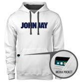 Contemporary Sofspun White Hoodie-John Jay
