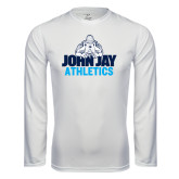 Performance White Longsleeve Shirt-Athletics