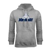 Grey Fleece Hoodie-Mascot on John Jay