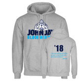 Grey Fleece Hoodie-John Jay Bloodhounds