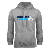 Grey Fleece Hood-John Jay Bloodhounds w Hound Flat