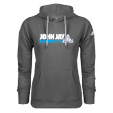 Adidas Climawarm Charcoal Team Issue Hoodie-John Jay Bloodhounds w Hound Flat