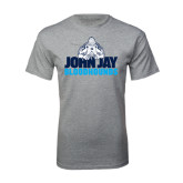 Sport Grey T Shirt-John Jay Bloodhounds