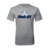 Grey T Shirt-Mascot on John Jay