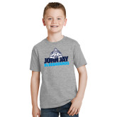 Youth Grey T-Shirt-John Jay Bloodhounds