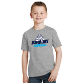 Youth Grey T-Shirt-Softball