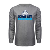 Grey Long Sleeve T Shirt-John Jay Bloodhounds