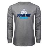 Grey Long Sleeve T Shirt-Tennis