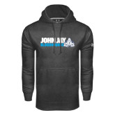 Under Armour Carbon Performance Sweats Team Hood-John Jay Bloodhounds w Hound Flat
