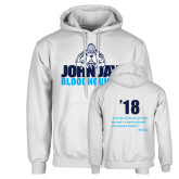 White Fleece Hoodie-John Jay Bloodhounds