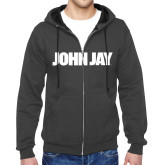 Charcoal Fleece Full Zip Hoodie-John Jay