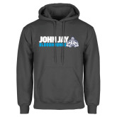 Charcoal Fleece Hood-John Jay Bloodhounds w Hound Flat