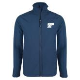 Navy Softshell Jacket-Official Logo