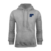 Grey Fleece Hood-Official Logo
