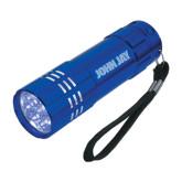 Industrial Triple LED Blue Flashlight-John Jay Engraved