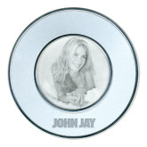 Silver Two Tone Big Round Photo Frame-John Jay Engraved